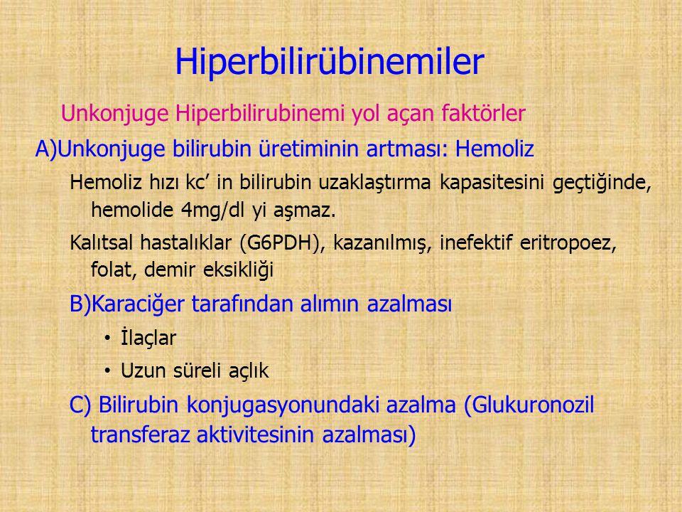 Hiperbilirübinemiler