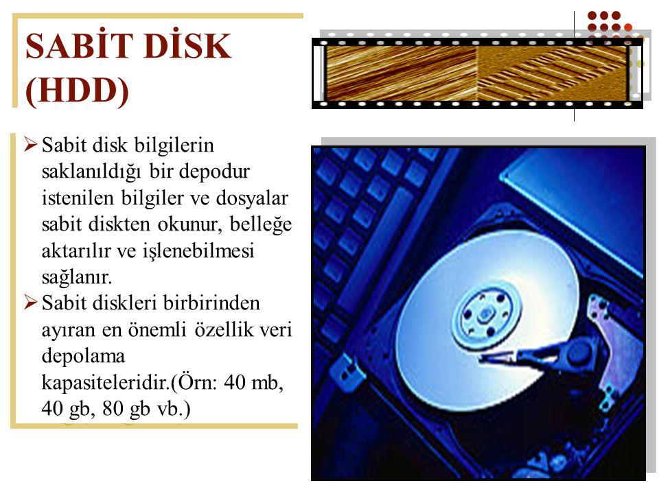 SABİT DİSK (HDD)