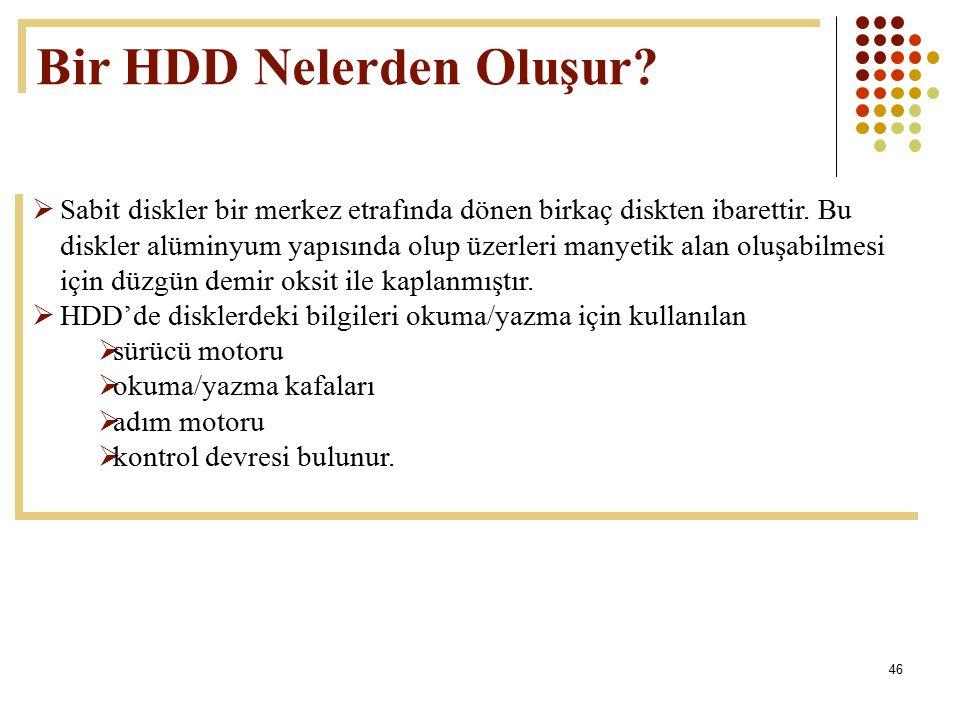 Bir HDD Nelerden Oluşur