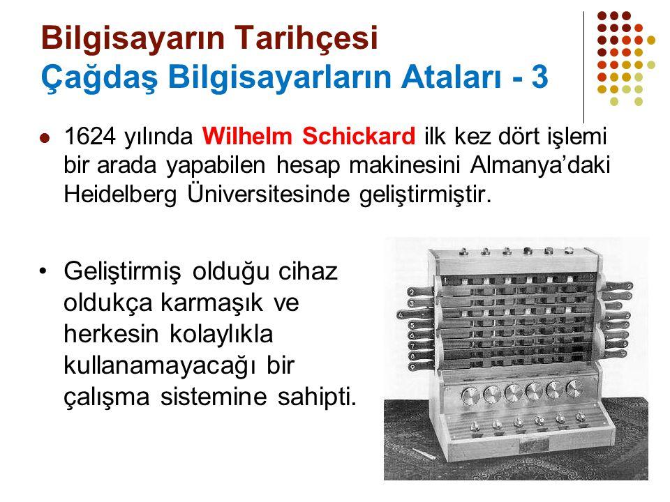 Bilgisayarın Tarihçesi Çağdaş Bilgisayarların Ataları - 3