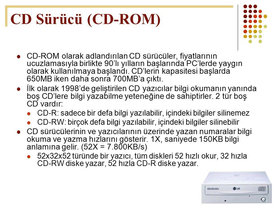 CD Sürücü (CD-ROM)