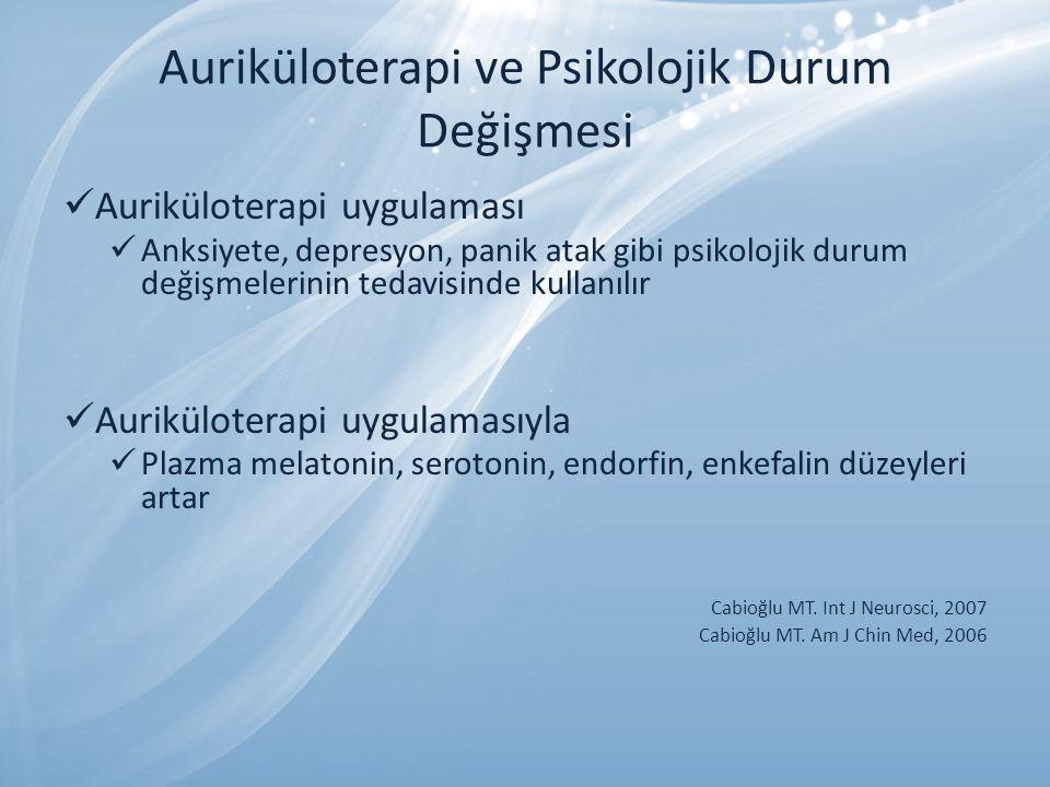 Auriküloterapi ve Psikolojik Durum Değişmesi