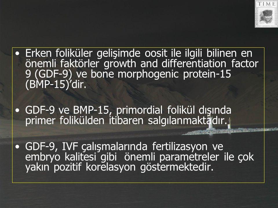 Erken foliküler gelişimde oosit ile ilgili bilinen en önemli faktörler growth and differentiation factor 9 (GDF-9) ve bone morphogenic protein-15 (BMP-15)'dir.