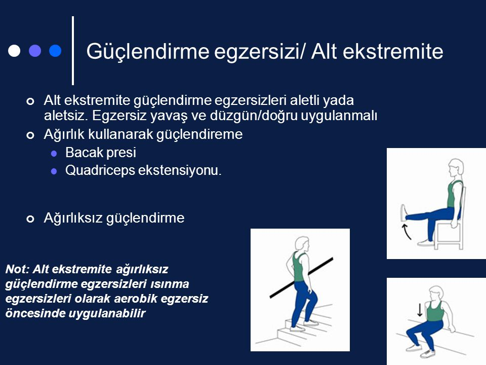 Güçlendirme egzersizi/ Alt ekstremite