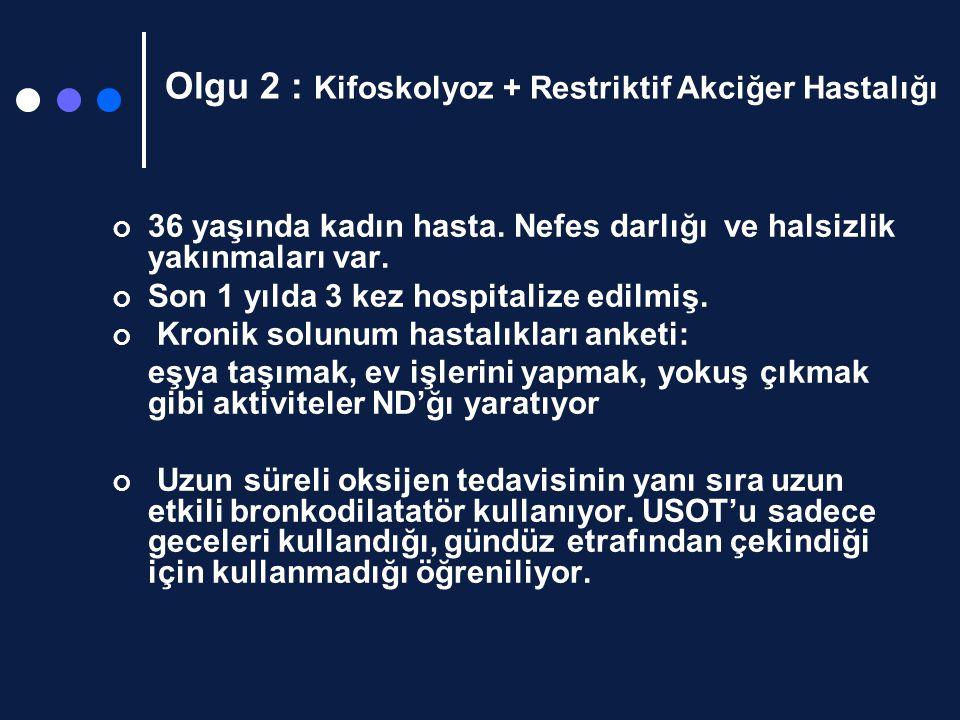 Olgu 2 : Kifoskolyoz + Restriktif Akciğer Hastalığı