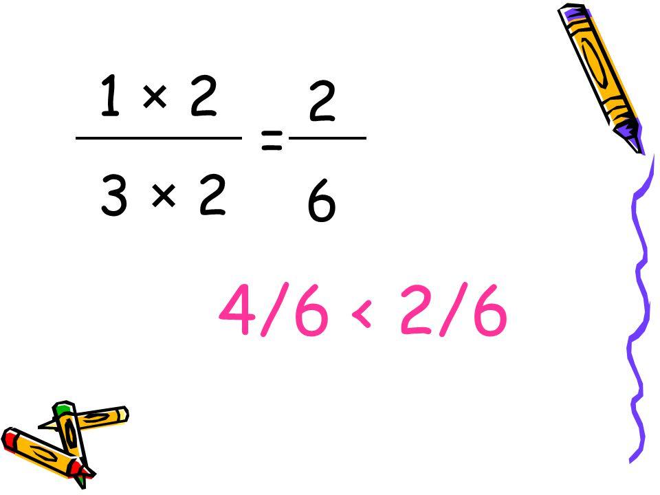 1 × 2 3 × 2 2 6 = 4/6 < 2/6