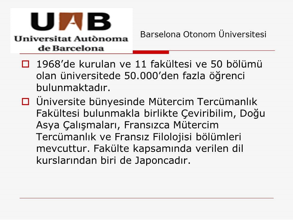 Barselona Otonom Üniversitesi