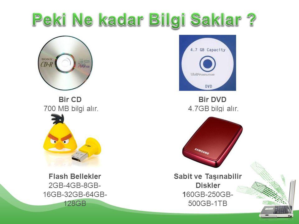 Peki Ne kadar Bilgi Saklar Sabit ve Taşınabilir Diskler