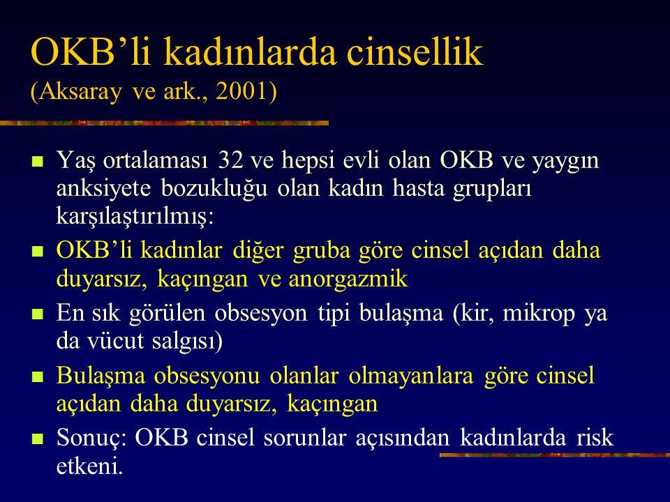 OKB'li kadınlarda cinsellik (Aksaray ve ark., 2001)