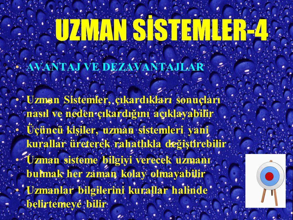 UZMAN SİSTEMLER-4 AVANTAJ VE DEZAVANTAJLAR
