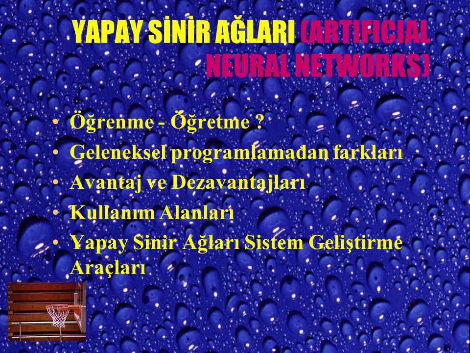 YAPAY SİNİR AĞLARI (ARTIFICIAL NEURAL NETWORKS)
