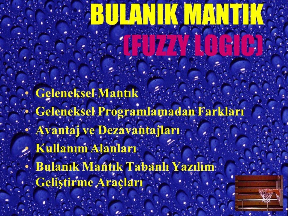 BULANIK MANTIK (FUZZY LOGIC)