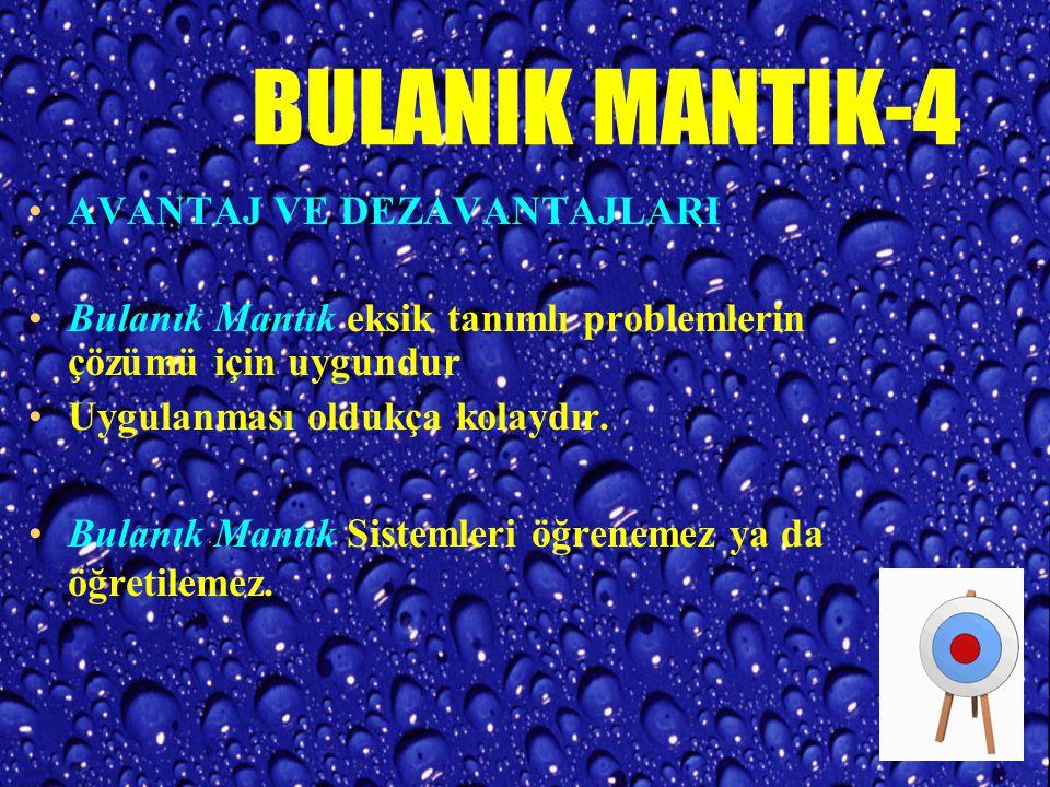 BULANIK MANTIK-4 AVANTAJ VE DEZAVANTAJLARI