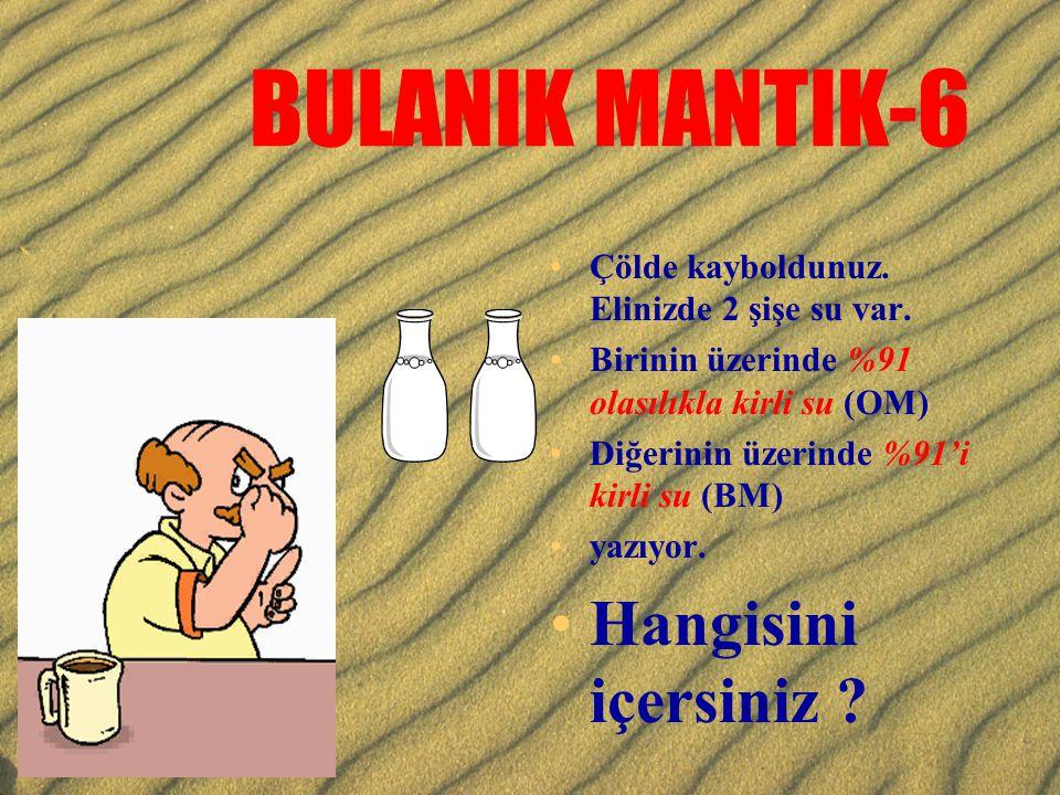 BULANIK MANTIK-6 Hangisini içersiniz