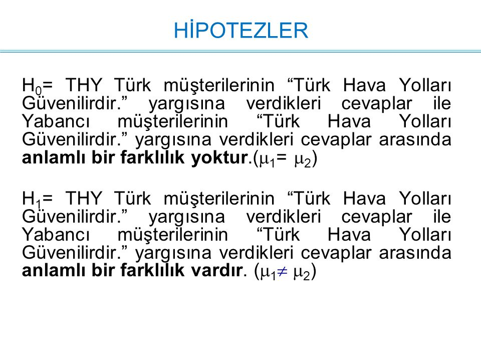 HİPOTEZLER