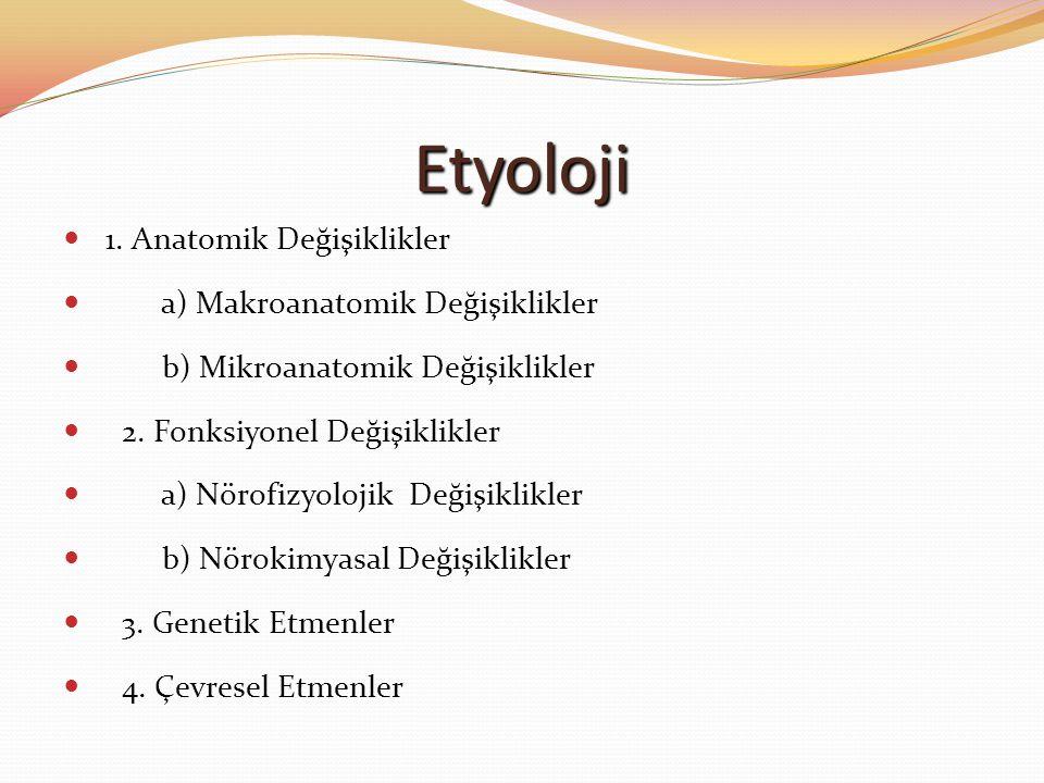 Etyoloji 1. Anatomik Değişiklikler a) Makroanatomik Değişiklikler