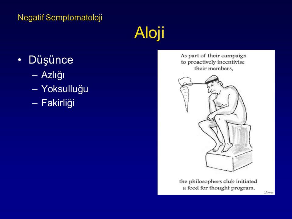 Negatif Semptomatoloji Aloji