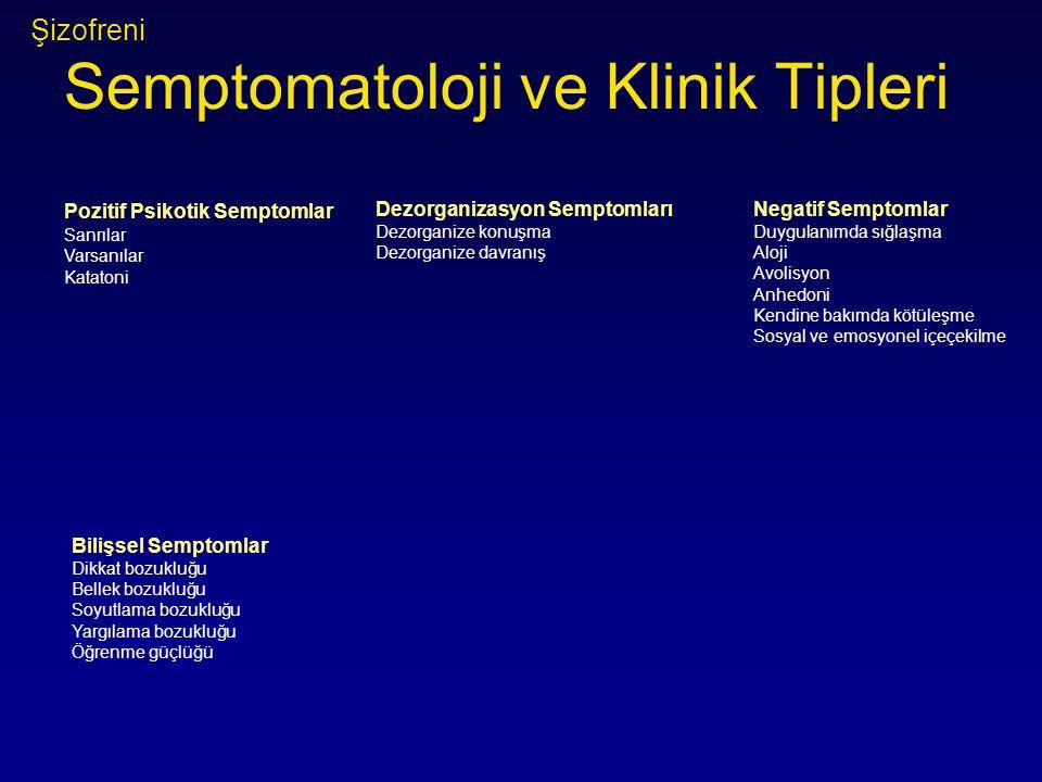 Şizofreni Semptomatoloji ve Klinik Tipleri