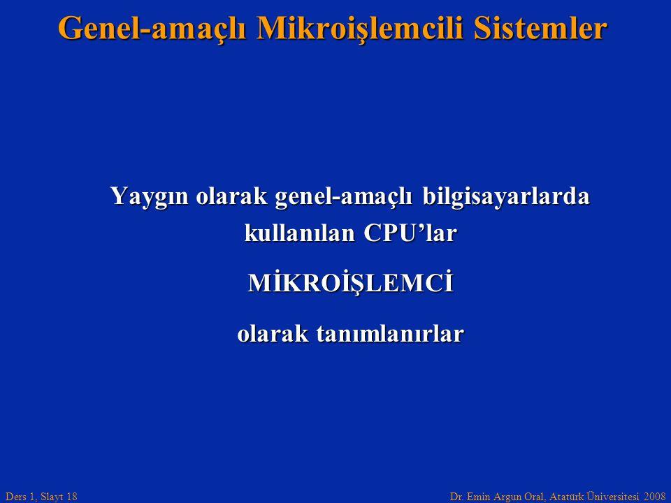 Genel-amaçlı Mikroişlemcili Sistemler