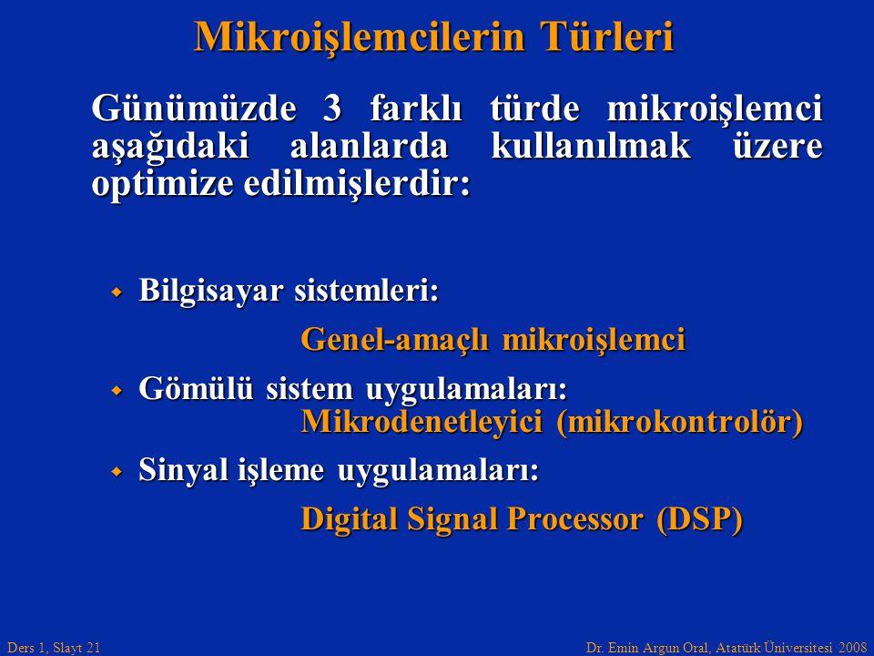 Mikroişlemcilerin Türleri