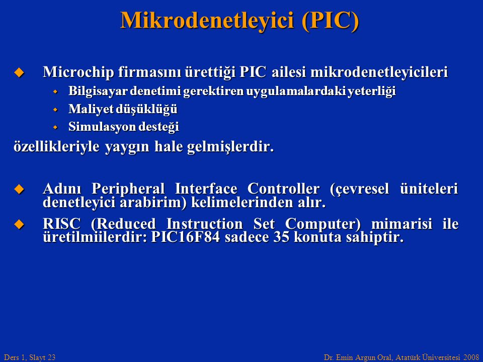 Mikrodenetleyici (PIC)