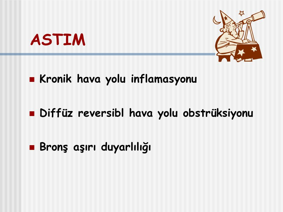 ASTIM Kronik hava yolu inflamasyonu