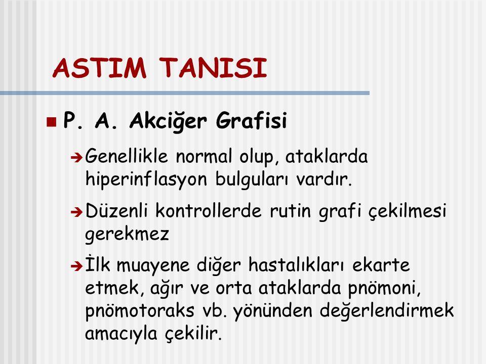 ASTIM TANISI P. A. Akciğer Grafisi
