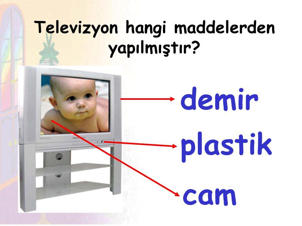 Televizyon hangi maddelerden yapılmıştır