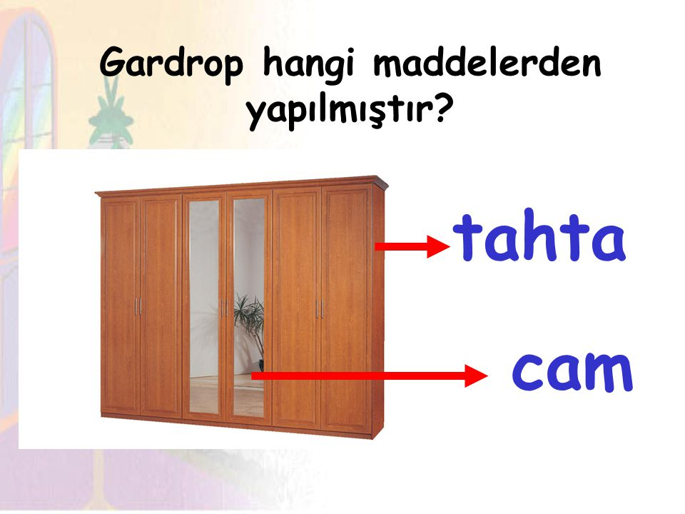 Gardrop hangi maddelerden yapılmıştır
