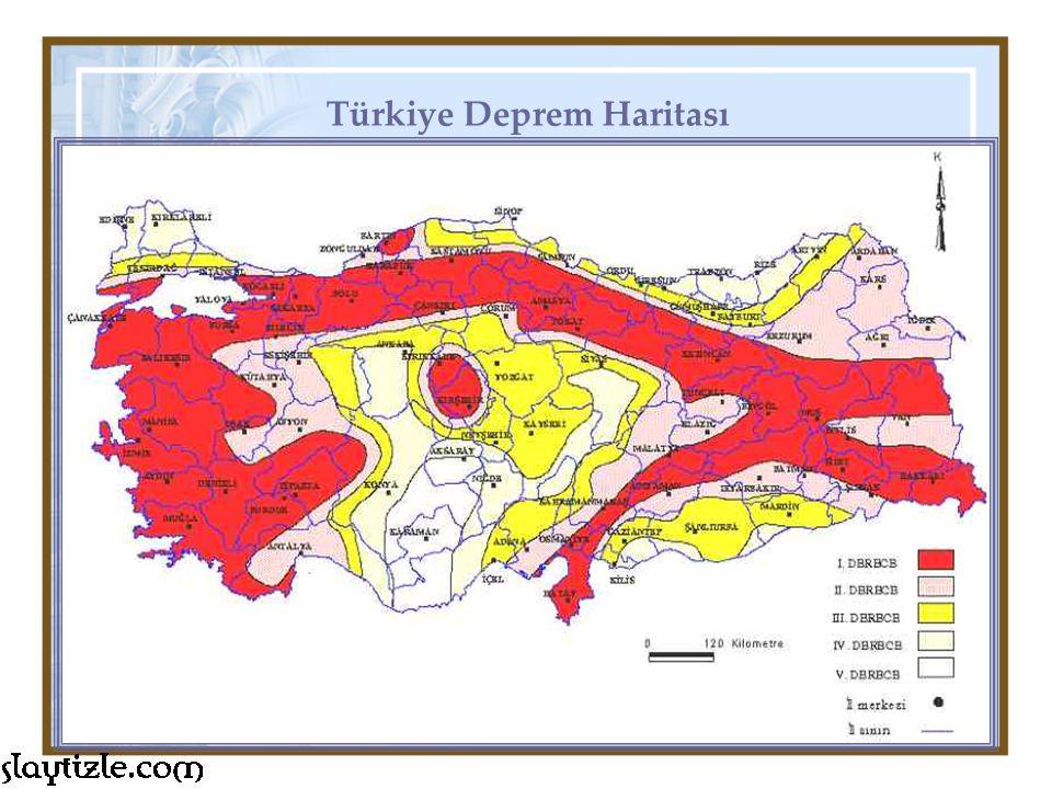 Türkiye Deprem Haritası