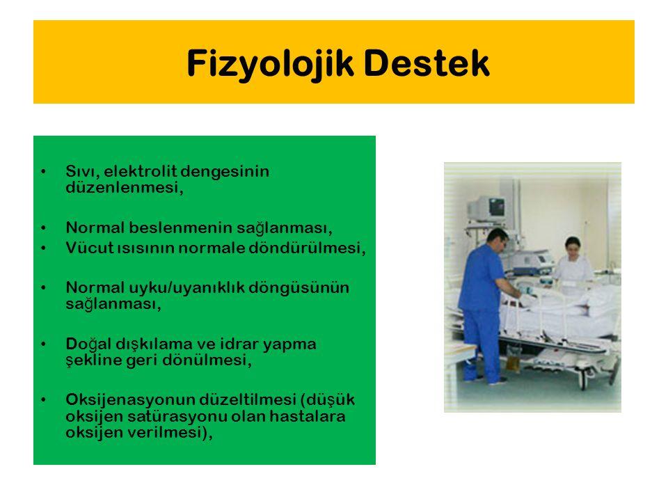 Fizyolojik Destek Sıvı, elektrolit dengesinin düzenlenmesi,