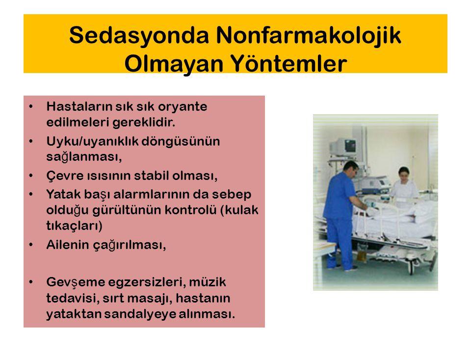 Sedasyonda Nonfarmakolojik Olmayan Yöntemler
