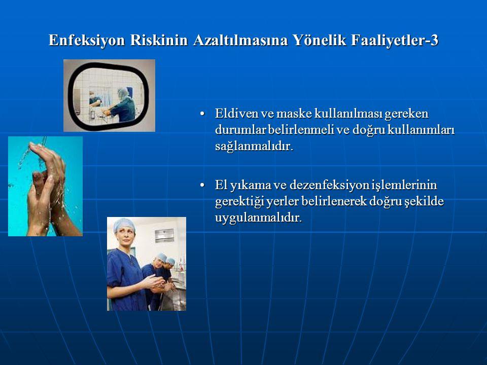 Enfeksiyon Riskinin Azaltılmasına Yönelik Faaliyetler-3