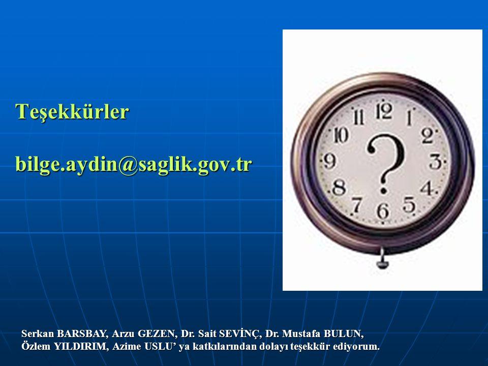 Teşekkürler bilge.aydin@saglik.gov.tr