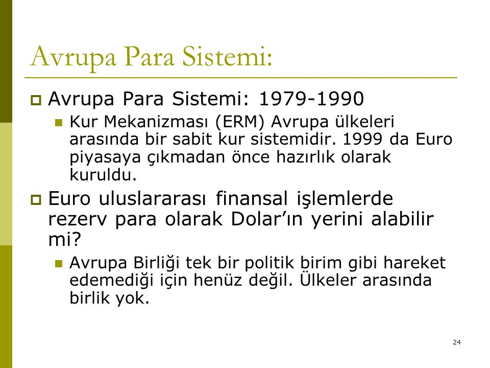 Avrupa Para Sistemi: Avrupa Para Sistemi: 1979-1990