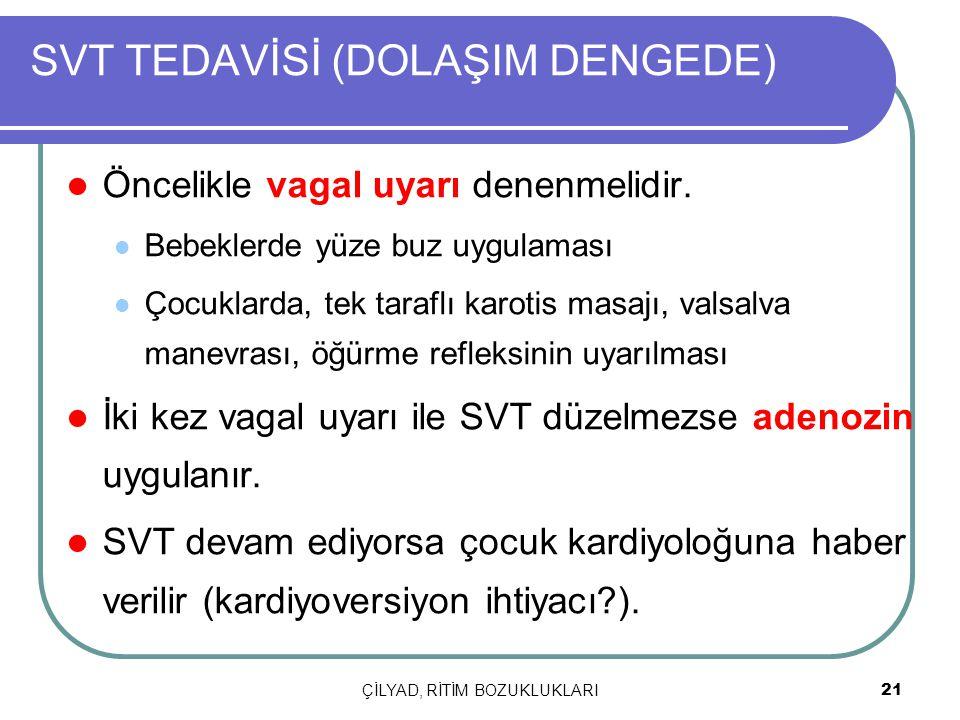 SVT TEDAVİSİ (DOLAŞIM DENGEDE)