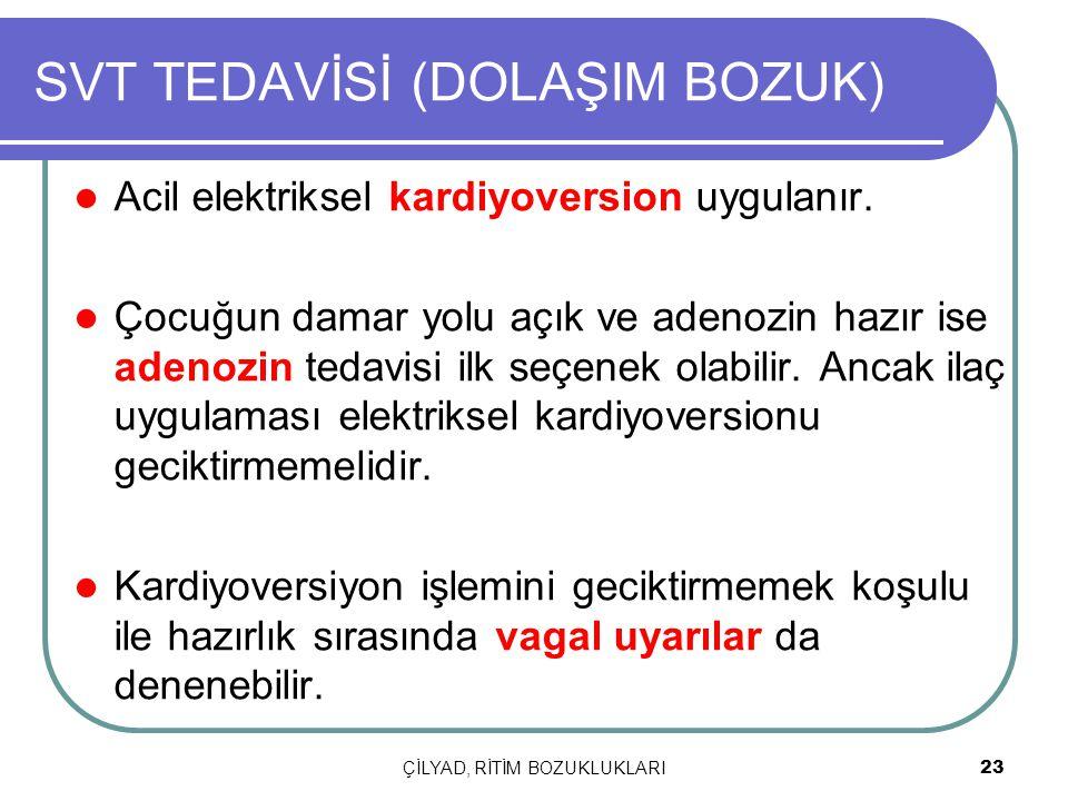 SVT TEDAVİSİ (DOLAŞIM BOZUK)