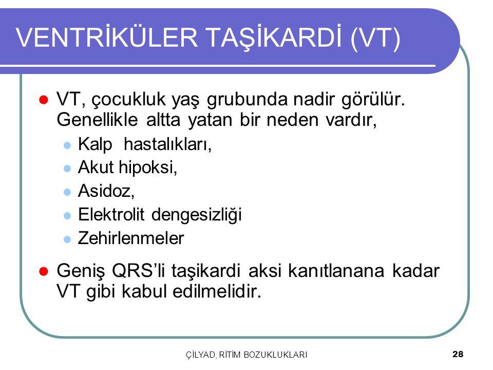 VENTRİKÜLER TAŞİKARDİ (VT)