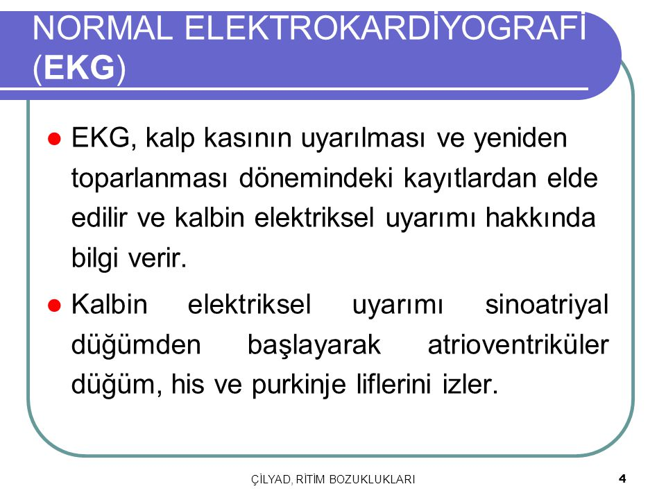 NORMAL ELEKTROKARDİYOGRAFİ (EKG)
