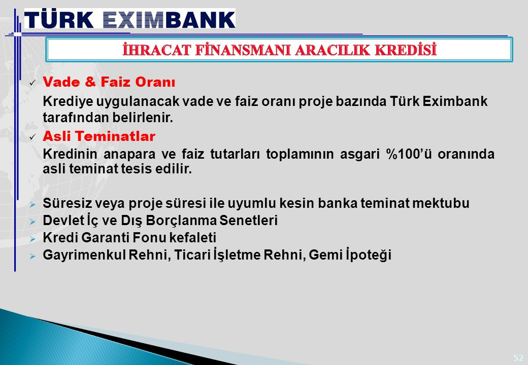 AVRUPA YATIRIM BANKASI KREDİSİ