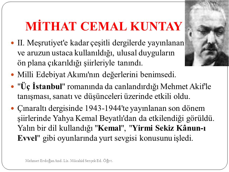 MİTHAT CEMAL KUNTAY