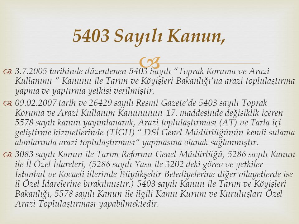 5403 Sayılı Kanun,