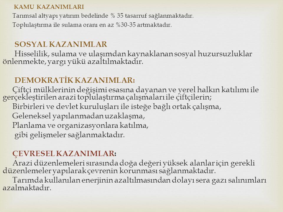 DEMOKRATİK KAZANIMLAR: