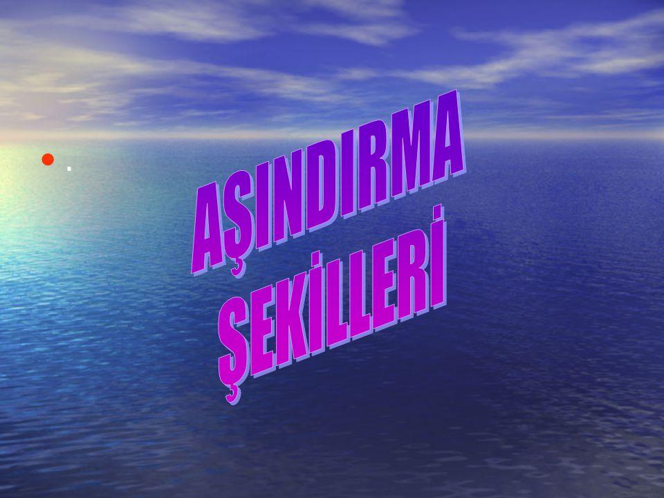 AŞINDIRMA ŞEKİLLERİ .