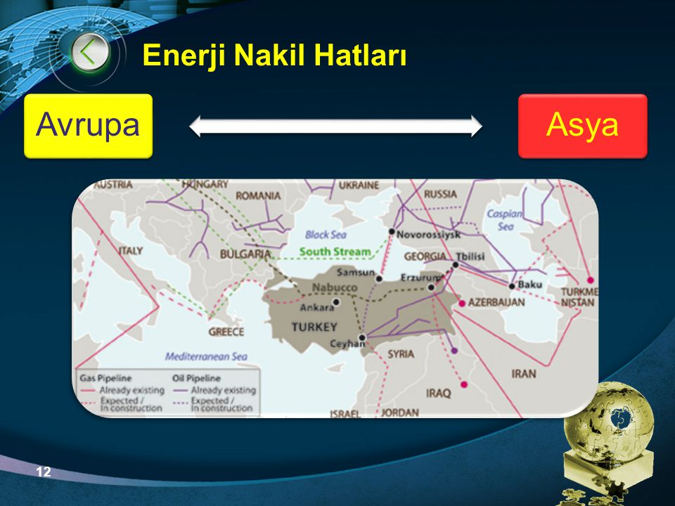 Enerji Nakil Hatları Avrupa Asya 12