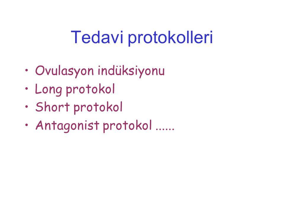 Tedavi protokolleri Ovulasyon indüksiyonu Long protokol Short protokol