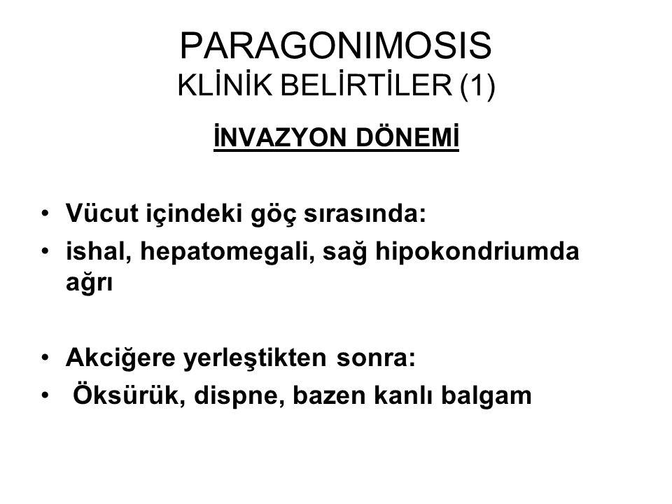 PARAGONIMOSIS KLİNİK BELİRTİLER (1)
