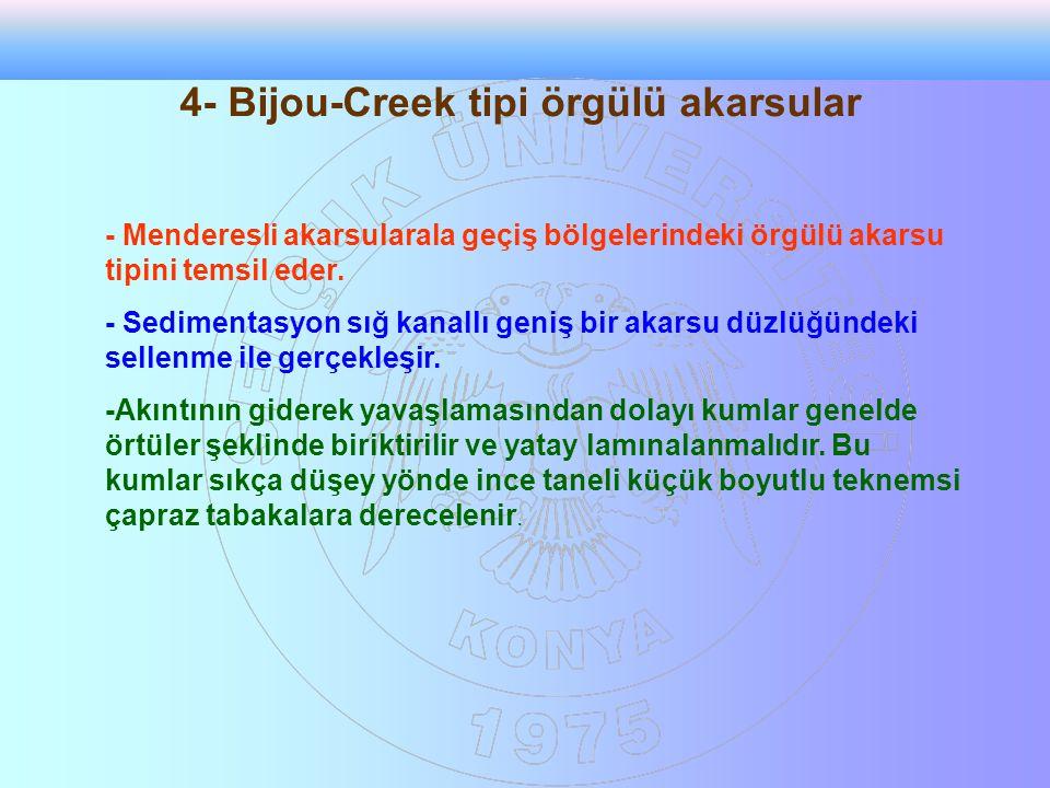 4- Bijou-Creek tipi örgülü akarsular