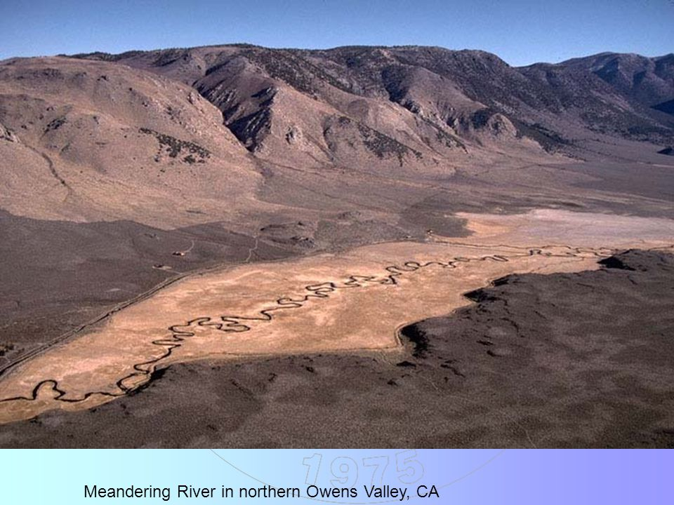Meandering River in northern Owens Valley, CA