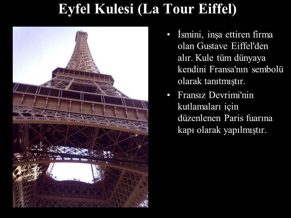 Eyfel Kulesi (La Tour Eiffel)